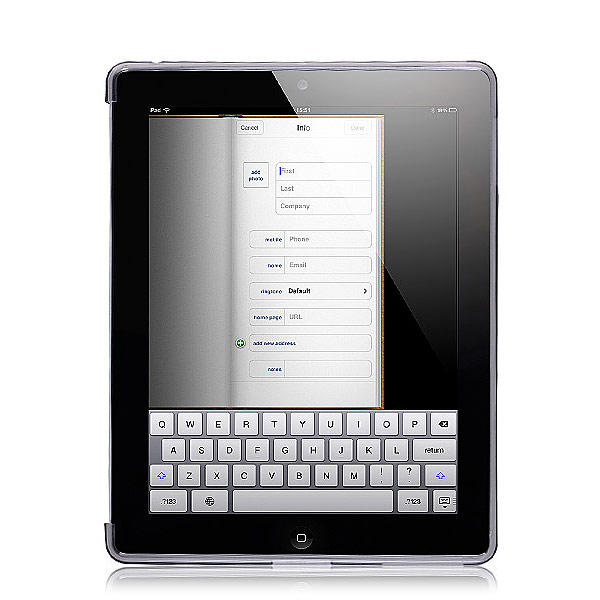 Grooved Diamond Cutwork Grey Gel Case for iPad 2 3 & 4