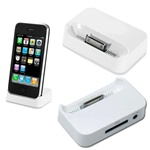 Desktop Docking Station + USB Cable for iPhone 3 (White)