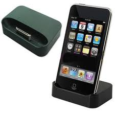 Desktop Docking Station + USB Cable for iPhone 3 (Black)