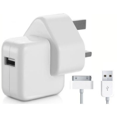 Genuine Apple iPad 1 2 & 3 Mains Charger with Data Cable