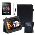 "Black Kindle Fire HD 7"" Leather Case 1st Generation"