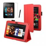 "Red Kindle Fire HD 7"" Leather Case 2nd Generation"