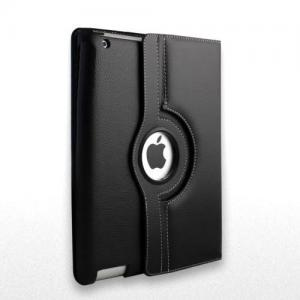 iPad Mini Black Leather 360 Rotating Case